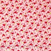 Radiant Girl - Heart Geo Pink Yardage