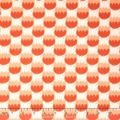 Enchanted - Tulips Red Orange Yardage