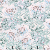 Botanical Oasis - Succulents Green Yardage