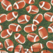 Sports Life - Football Grass Digitally Printed Yardage