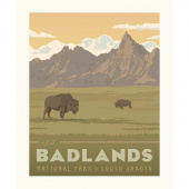 National Parks - Badlands Poster Panel