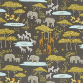 Safari Life - In the Native Black Yardage