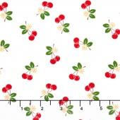 Sew Cherry 2 - Cherry White Yardage