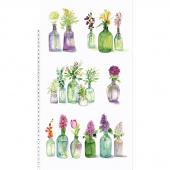 Radiance - Flower Bottles White Panel