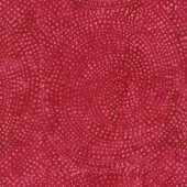 Tonga Batiks - Colorwheel Rainbow Dotty Spiral Ruby Yardage