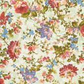Belle Epoque - Bold Floral Green Yardage