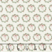 Winterberry - Wreaths Cream Yardage