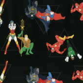 Justice League Activated - Hero Pyramid in Black Yardage