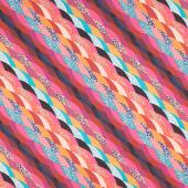 Loose Leaf - Geometric Fiesta Digitally Printed Yardage