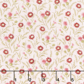 Rhapsody in Reds - Tiny Wildflowers Pink Yardage