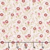 Rhapsody in Reds - Tiny Wildflowers Pink Yardage