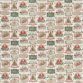 Vintage Christmas - Christmas Labels Multi Yardage
