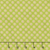 Linen and Lawn - Circle Green Cotton Lawn Yardage