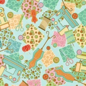 Sewing Mends the Soul - Everything Sewing Light Teal Yardage