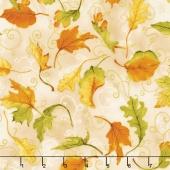 Autumn Air - Whirlwind Oak Metallic Yardage