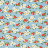 It's Elementary - Garden Blooms Blue Yardage