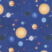 Out of this World with NASA - Nasa Planets Blue Yardage