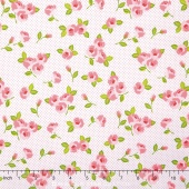 Kewpie Love - Floral Cream Yardage