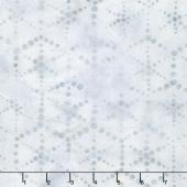 Artisan Batiks - Dot Dot Dot 2 Hexagon Dots Silver Yardage