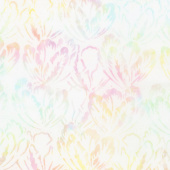 Tonga Batiks - Buttercream Hibiscus Taffy Yardage