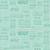 Missouri Star Souvenir Collection - Jenny's Sayings Aqua Yardage