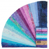 "Tonga Treats Batiks - Colorwheel Plume 2.5"" Strips"