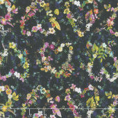 Fleur Couture - Everyday Romance Dark Wash Digitally Printed Yardage