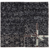 "Festive Batiks Black Snowflake 10"" Squares"