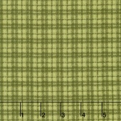 Woolies Flannel - Plaid Green Yardage