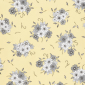 Honey Run - Floral Main Yellow Yardage