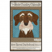 Wire Haired Dachshund Brown Precut Fused Appliqué Pack
