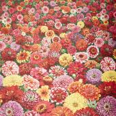 Flowers - Zinnia Cascading Multi Yardage