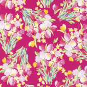 Fruitful Pleasures - Main Fuchsia Yardage