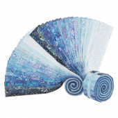 "Java Batiks Favorites Blues 2.5"" Strips"
