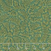 Holiday Flourish 12 - Twig Green Metallic Yardage
