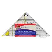 Half and Quarter Square Triangles Ruler