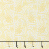 Gabrielle - Paisley Light Yellow Yardage