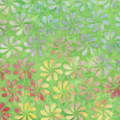 Petal Pushers Batiks - Propeller Green Apple Yardage