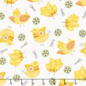 Carrot Patch - Chicks White Yardage