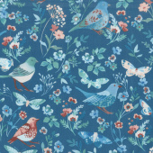 Birdsong - Birds of a Feather Peacock Yardage