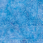 Winter Frost Batiks - Flower Blue Yardage