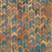 Desert Sun Batiks - Geometric Arrow Burnished Copper Yardage