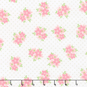 Cozy Cotton Flannels - Sweet Flowers Pink Yardage