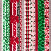 Suite Christmas - Land of the Sweets Peppermint Metallic Yardage