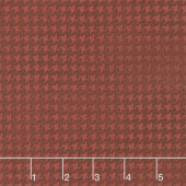 Harvest Berry - Blushed Houndstooth Dark Red Yardage