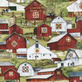 Country - Headin' Home Packed Barns Green Yardage