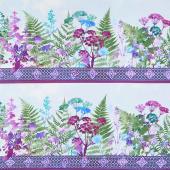 Haven - Border Purple Yardage