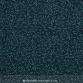 Bluebird Gathering - Branches Tonal Navy Yardage