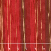 Shiny Objects - Holiday Twinkle Sterling Stripe Scarlet Metallic Yardage