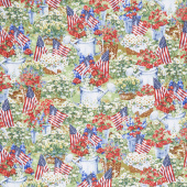 Novelty - Patriotic Garden Multi Yardage